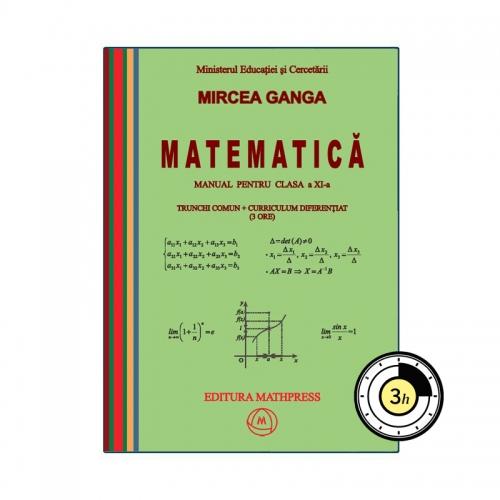 Manual de Matematica, clasa a XI-a, TC + CD (3 ore), MathPress