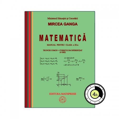 Manual de Matematica, clasa a XI-a, TC + CD (4 ore), MathPress
